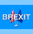 brexit flags of britain and european union vector image vector image