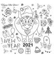 bull 2021 symbol year chinese new year a vector image vector image