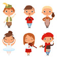 cartoon kids boys and girls of different creative vector image vector image