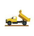 cartoon of sand truck vector image