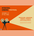 cinema festival retro poster vector image vector image