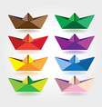 colored paper boats vector image vector image