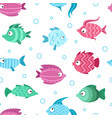 colorful tropical fishes seamless pattern vector image vector image