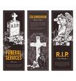 condolence card and advertising columbarium vector image vector image