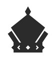 crown icon black symbol monarch and authority vector image vector image