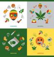 digital cannabis healthy medicine vector image