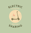 electric scooter rental and sharing grunge poster vector image vector image