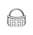 empty picnic basket sketch vector image