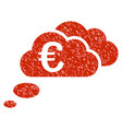 euro dream clouds icon grunge watermark vector image vector image