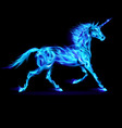 Fair Unicorn Run blue 01 vector image vector image
