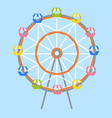 ferris-wheel with lots colorful cabs isolated vector image vector image
