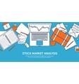 Flat background Market trade vector image vector image