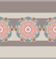 floral seamless pattern in pastel colors vector image vector image