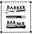 frame hairdressing scissors and comb icon vector image vector image