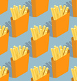 French fries seamless pattern Sliced potatoes in vector image vector image