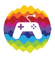 Game and Fun Rainbow Color Icon for Mobile vector image vector image