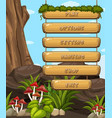 game design with forest theme vector image