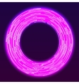 Glowing neon ring background vector image vector image
