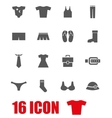 grey clothes icon set vector image vector image