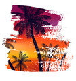 handmade poster on watercolor brush stroke vector image vector image