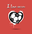 i love soccer vector image vector image