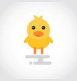 icon cartoon yellow chick in flat design vector image
