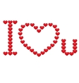 Inscription I love you vector image vector image