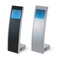 Interactive Information Kiosk Terminal Stand vector image vector image