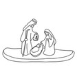 joseph mary and bajesus with copyspace vector image vector image