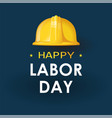 labor day helmet isolated on back vector image vector image