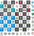 large set of logos new technologies vector image vector image