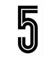 latin alphabet font in disco style black vector image