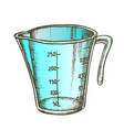 measuring cup for baking and cooking color vector image vector image