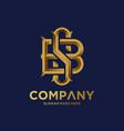 monogram logo with golden letter vector image vector image