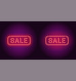 neon banner of red sale badge vector image vector image