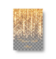 new year background with golden rays vector image vector image