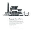 Nuclear Power Plant Poster Brochure Design vector image vector image