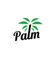 palm tree logo icon vector image