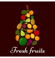 Pear symbol made up of fresh fruits vector image vector image