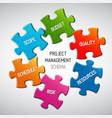 Project management diagram scheme concept