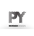 py p y lines letter design with creative elegant vector image vector image