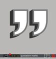 Quotation Marks Icon vector image vector image