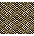 Seamless black and gold square art deco pattern vector image vector image