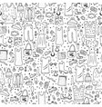 seamless pattern of woman clothes and accessories vector image