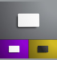 set of mock-ups for a bank and gift card top view vector image vector image