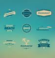 Set of summer retro design elements Vintage vector image vector image