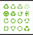 set recycle symbol isolated vector image