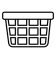 shopping basket market on white background vector image