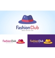 Shopping hat icon logo isolated on white vector image vector image