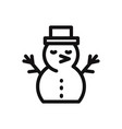 snowman icon christmaswinter symbol flat sign vector image vector image